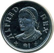 1 Dollar - Elizabeth II (King of Wessex Alfred) – revers
