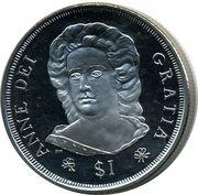 1 Dollar - Elizabeth II (Queen Anne) – revers