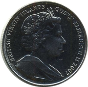 1 Dollar - Elizabeth II (4th portrait; 300th Anniversary of the Act of Union) – avers