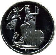 1 Dollar - Elizabeth II (Britain) – revers