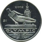 1 Dollar - Elizabeth II (Gymnast) – revers