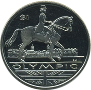 1 Dollar - Elizabeth II (Dressage) -  revers