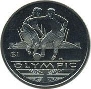 1 Dollar - Elizabeth II (Soccer) – revers