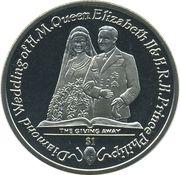 1 Dollar - Elizabeth II (The Giving Away) – revers