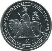 1 Dollar - Elizabeth II (80th anniversary of Queen Elizabeth II) – revers