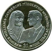 1 Dollar - Elizabeth II () – revers