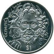 1 Dollar - Elizabeth II (Olympic) – revers