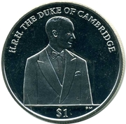 1 Dollar - Elizabeth II (Duke of Cambridge) – revers