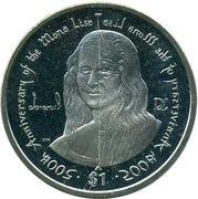 1 Dollar - Elizabeth II (500th anniversary of the Mona Lisa) – revers
