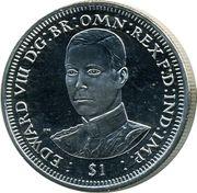 1 Dollar - Elizabeth II (Roi Edouard VIII) – revers