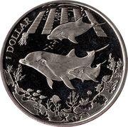 1 Dollar - Elizabeth II (3 Dolphins) – revers