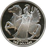10 Dollars - Elizabeth II (4ème portrait ; Pégase) – revers