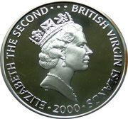 10 Dollars Elizabeth II 'La Reine Mère' avec perle – avers