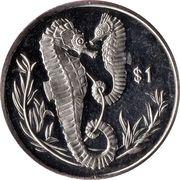 1 Dollar (Hippocampes) – revers
