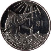 1 Dollar (Makaire bleu) – revers