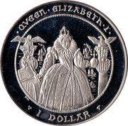 1 Dollar (Coronation of Queen Elizabeth I – revers