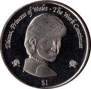 1 Dollar (Princess Diana) – revers
