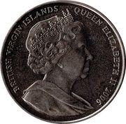 1 Dollar (Elizabeth II and Philip on their thrones) – avers