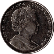 1 Dollar (Young Queen Elizabeth II and her mother) – avers