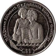 1 Dollar (Young Queen Elizabeth II and her mother) – revers