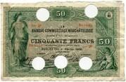 50 francs (Banque Commerciale Neuchâteloise) – avers