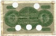 50 francs (Banque Commerciale Neuchâteloise) – revers