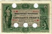 50 francs (Banque Cantonale Neuchâteloise) – avers