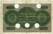 50 francs (Banque Cantonale Neuchâteloise) – revers