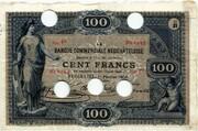 100 francs (Banque Commerciale Neuchâteloise) – avers