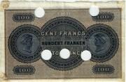 100 francs (Banque Commerciale Neuchâteloise) – revers