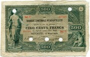 500 francs (Banque Cantonale Neuchâteloise) – avers