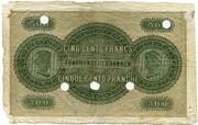 500 francs (Banque Cantonale Neuchâteloise) – revers