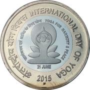 10 roupies (Journée internationale du yoga) -  revers
