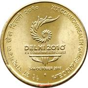 5 roupies (19th Common Wealth Games - Delhi 2010) -  revers