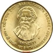 5 roupies (Rabindranath Tagore) -  revers