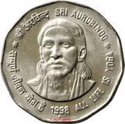 2 roupies Sri Aurobindo -  revers