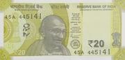 20 Rupees (Gandhi) – avers