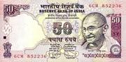 50 Rupees(Ghandi; Parliament Building) – avers