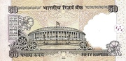 50 Rupees(Ghandi; Parliament Building) – revers