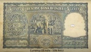 100 Rupees (1950-1957) – revers