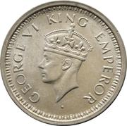 1 roupie - George VI -  avers