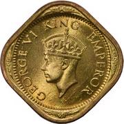 ½ anna George VI -  avers