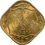 ½ anna George VI -  revers
