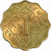 1 anna - George VI (laiton de nickel) -  avers