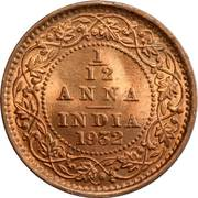 1/12 anna - George V -  revers