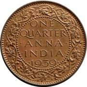 ¼ anna - George VI (fleurs de lys longues) -  revers
