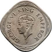 2 annas - George VI (Cupronickel type 3) -  avers