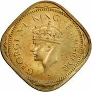 2 annas - George VI (laiton nickel type 1) -  avers