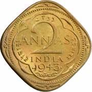 2 annas - George VI (laiton nickel type 1) -  revers