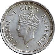 ¼ roupie - George VI -  avers